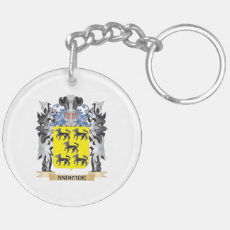 Escudo de armas de Andrade - escudo de la familia Llavero Redondo Acrílico A Doble Cara