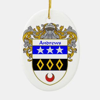 Escudo de armas de Andrews/escudo de la familia Adorno Ovalado De Cerámica