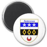 Escudo de armas de Andrews/escudo de la familia Imán Para Frigorifico