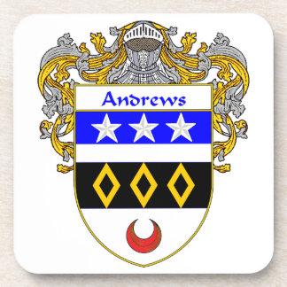 Escudo de armas de Andrews/escudo de la familia Posavasos