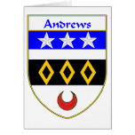Escudo de armas de Andrews/escudo de la familia Tarjetón