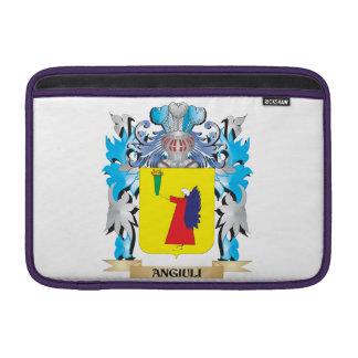 Escudo de armas de Angiuli Fundas MacBook