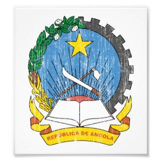 Escudo de armas de Angola Fotografias