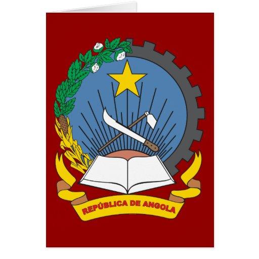 Escudo de armas de Angola Tarjeta De Felicitación