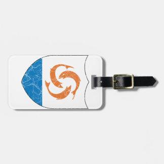 Escudo de armas de Anguila Etiquetas De Equipaje