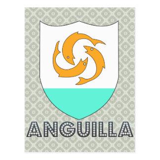 Escudo de armas de Anguila Tarjeta Postal