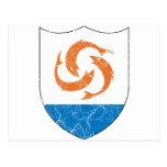 Escudo de armas de Anguila Tarjetas Postales