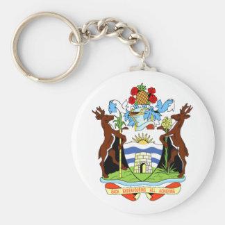 Escudo de armas de Antigua y de Barbuda Llavero Redondo Tipo Pin