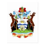 Escudo de armas de Antigua y de Barbuda Postal