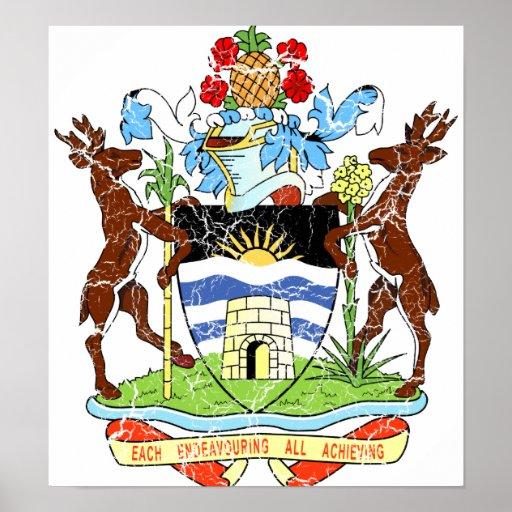 Escudo de armas de Antigua y de Barbuda Poster