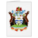 Escudo de armas de Antigua y de Barbuda Felicitación
