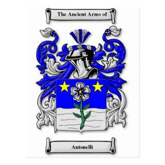Escudo de armas de Antonelli Postal