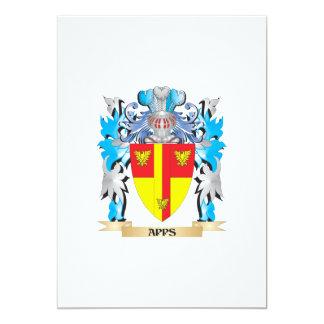 Escudo de armas de Apps Invitación 12,7 X 17,8 Cm