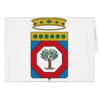 Escudo de armas de Apulia (Italia) Felicitaciones