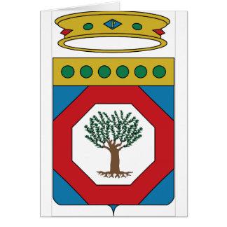 Escudo de armas de Apulia (Italia) Tarjeton