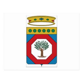 Escudo de armas de Apulia (Italia) Postal