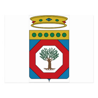 Escudo de armas de Apulia (Italia) Tarjetas Postales