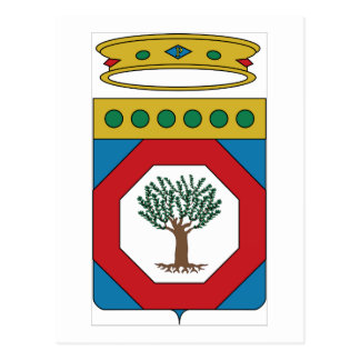 Escudo de armas de Apulia (Italia) Tarjeta Postal