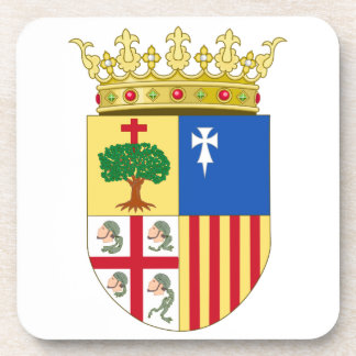 Escudo de armas de Aragón (España) Posavasos