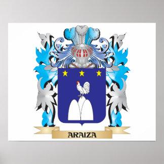 Escudo de armas de Araiza Póster
