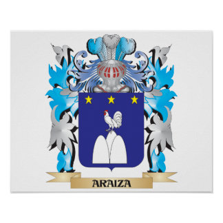 Escudo de armas de Araiza Posters
