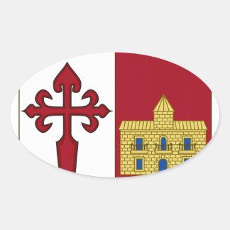 Escudo de armas de Aranjuez (España) Pegatina Ovalada