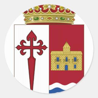 Escudo de armas de Aranjuez (España) Pegatina Redonda