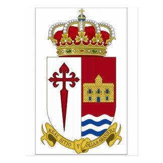 Escudo de armas de Aranjuez (España) Tarjetas Postales