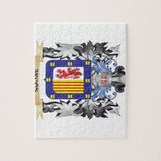Escudo de armas de Arcos - escudo de la familia Puzzle