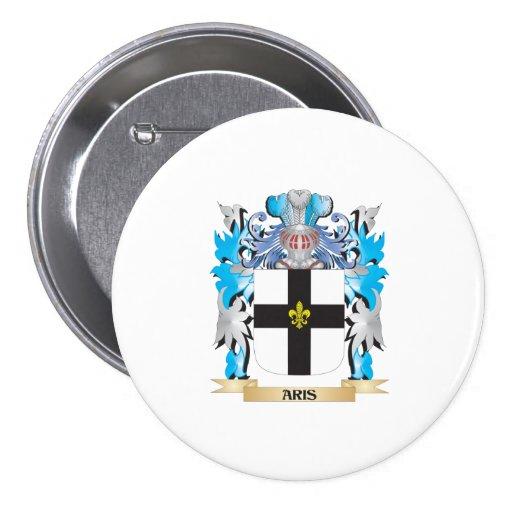 Escudo de armas de Aris Pin Redondo 7 Cm