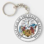 Escudo de armas de Arkansas Llavero Redondo Tipo Pin