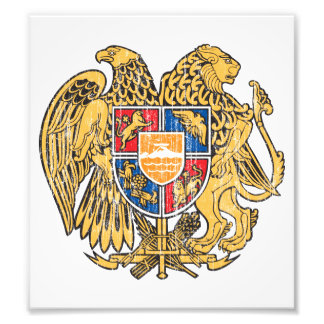 Escudo de armas de Armenia Fotografias