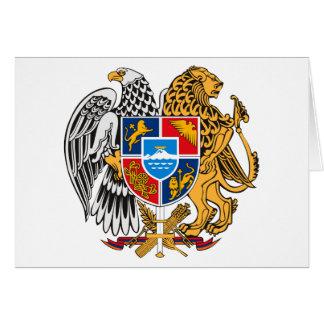 Escudo de armas de Armenia Tarjeta De Felicitación