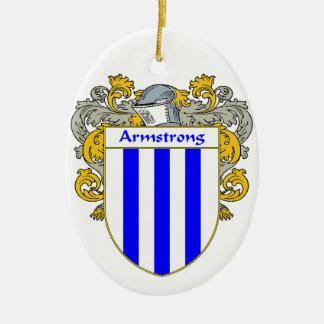 Escudo de armas de Armstrong/escudo de la familia Adorno Ovalado De Cerámica