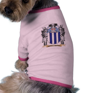 Escudo de armas de Armstrong - escudo de la Camiseta Con Mangas Para Perro