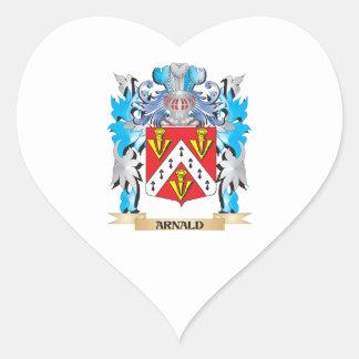 Escudo de armas de Arnald Calcomanías Corazones Personalizadas