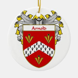 Escudo de armas de Arnold/escudo de la familia Adorno Redondo De Cerámica