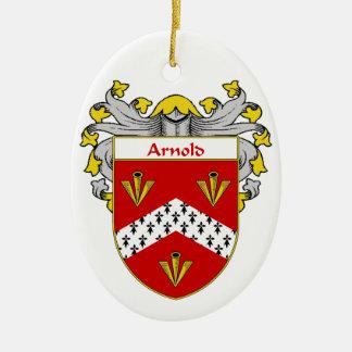Escudo de armas de Arnold/escudo de la familia Adorno Ovalado De Cerámica