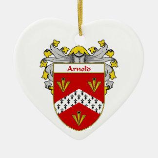 Escudo de armas de Arnold/escudo de la familia Adorno De Cerámica En Forma De Corazón