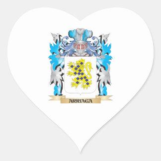 Escudo de armas de Arriaga Pegatina De Corazón Personalizadas
