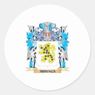 Escudo de armas de Arriaga Pegatinas Redondas