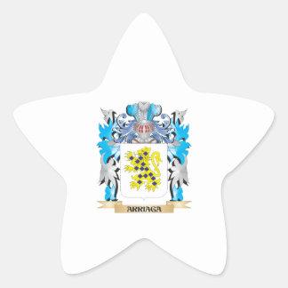 Escudo de armas de Arriaga Colcomanias Forma De Estrellas