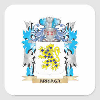 Escudo de armas de Arriaga Calcomanía Cuadradas Personalizada