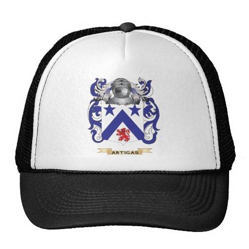 Escudo de armas de Artigas (escudo de la familia) Gorros