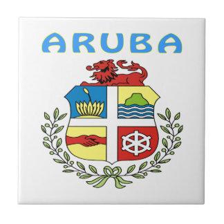 Escudo de armas de Aruba Azulejo Cuadrado Pequeño