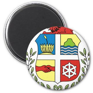 Escudo de armas de Aruba Imán Redondo 5 Cm
