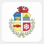 Escudo de armas de Aruba Calcomania Cuadrada Personalizada