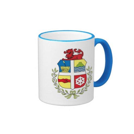 Escudo de armas de Aruba Taza A Dos Colores