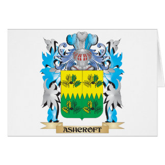 Escudo de armas de Ashcroft Tarjeta De Felicitación