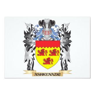 """Escudo de armas de Ashkenazic - escudo de la Invitación 5"""" X 7"""""""